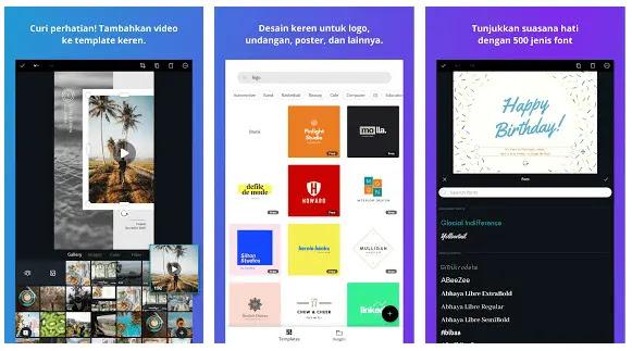 canva aplikasi pembuat logo di hp android 2019