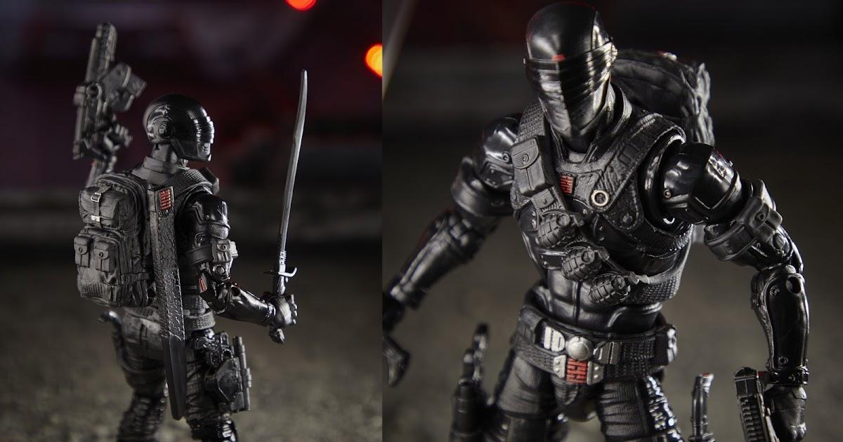 "Custom G.I Joe Snake-Eyes Painted head Cast Legends//Mezco//Classified scale 6/"""