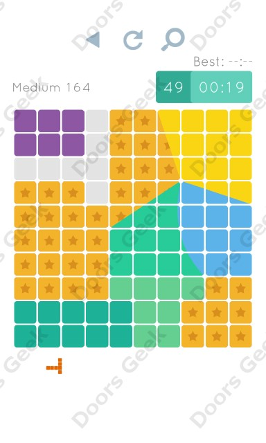 Cheats, Walkthrough for Blocks and Shapes Medium Level 164