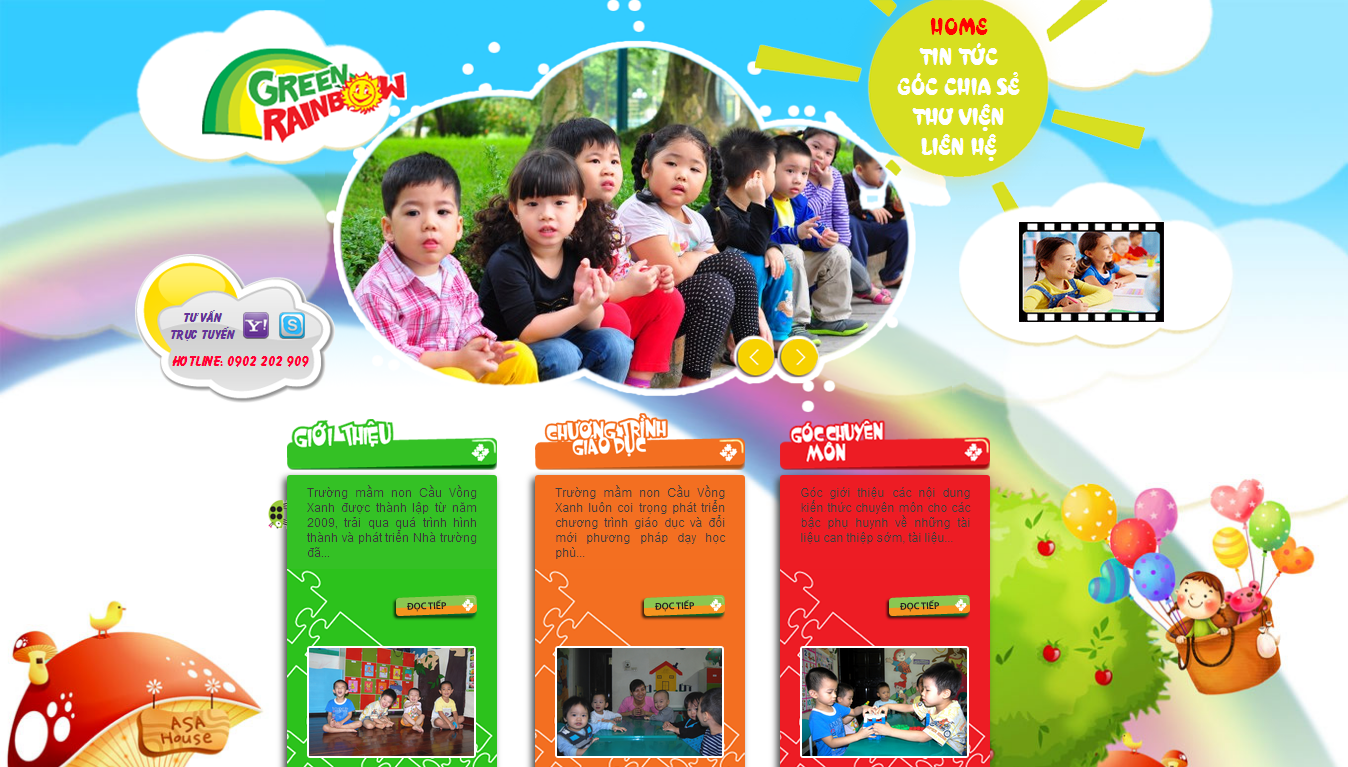 thiết kế website trường học chất lượng cao