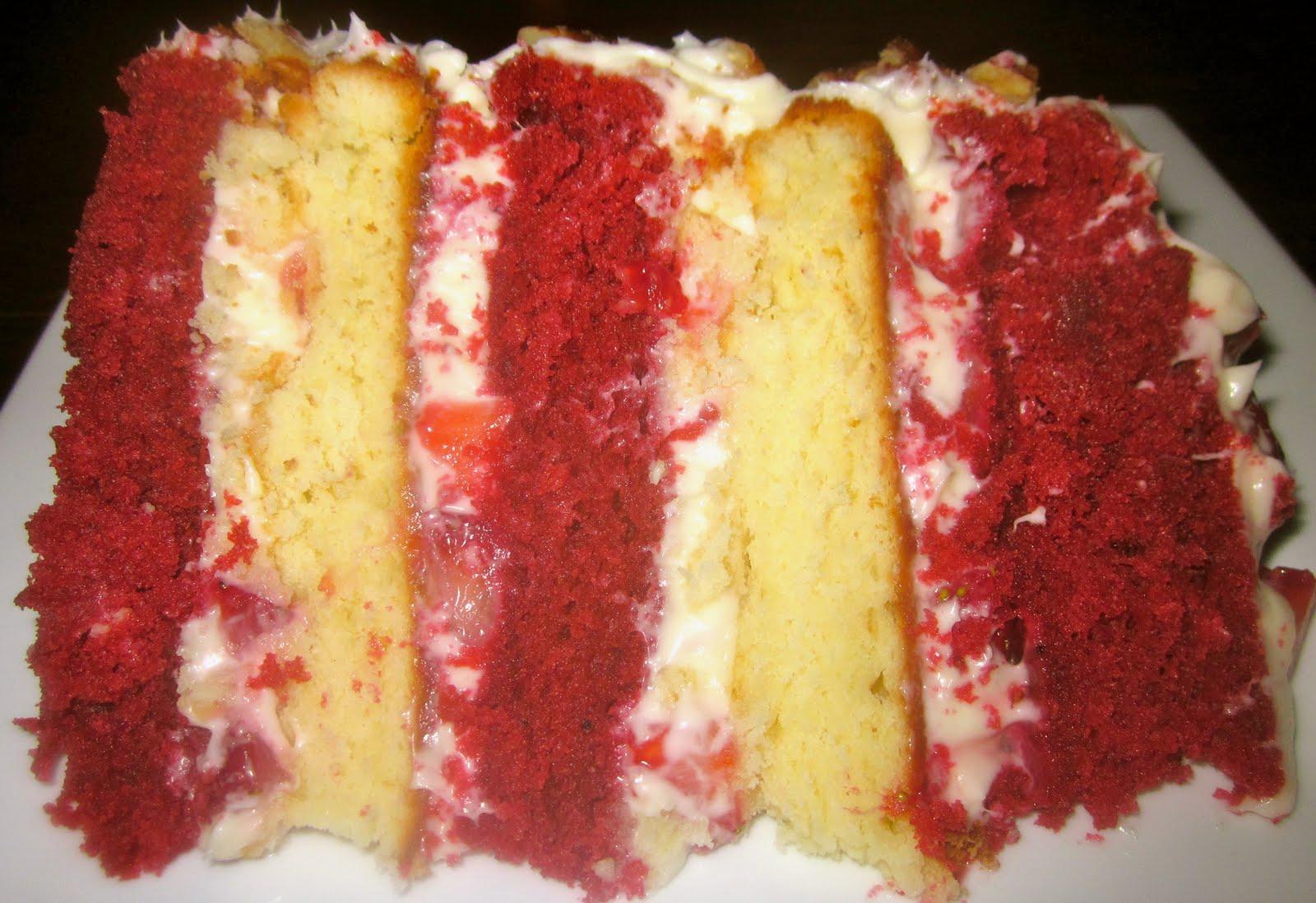 Red Velvet Strawberry Shortcake Layer Cake