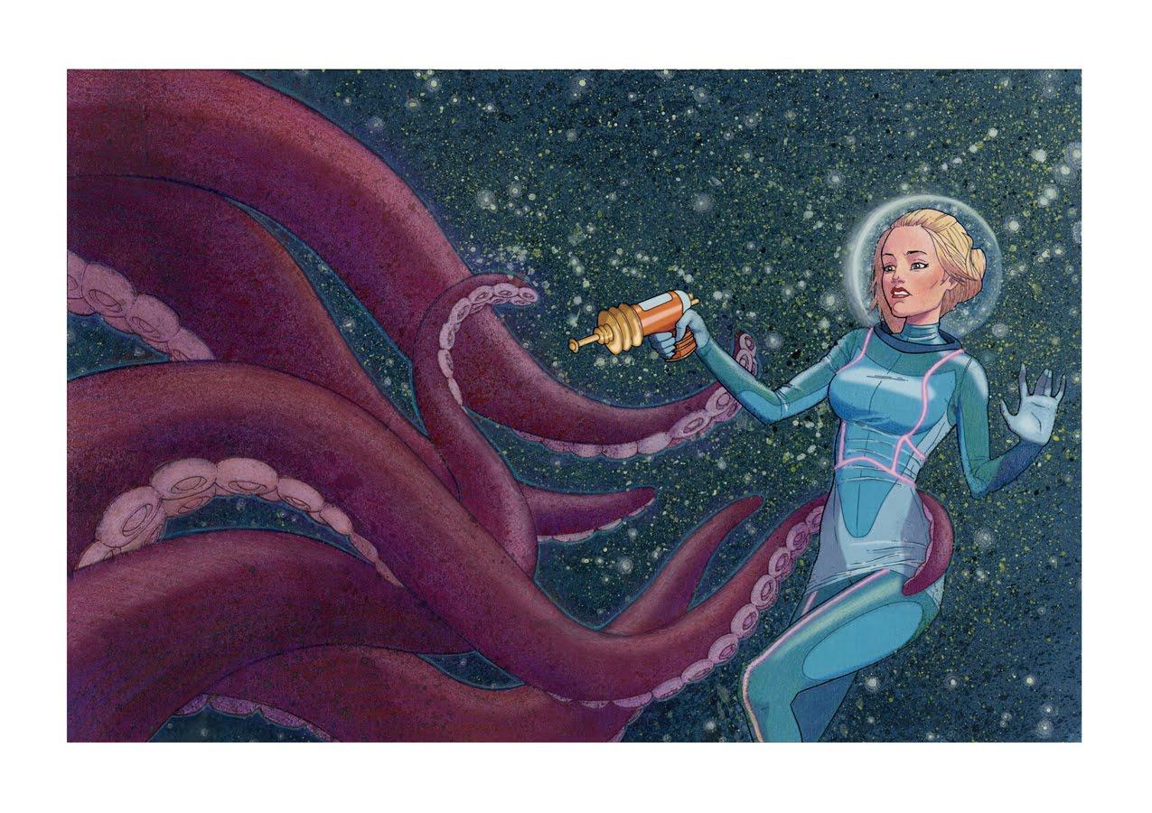 Kaleb A Hazen - Illustrator: EEK! A Tentacle Monster!