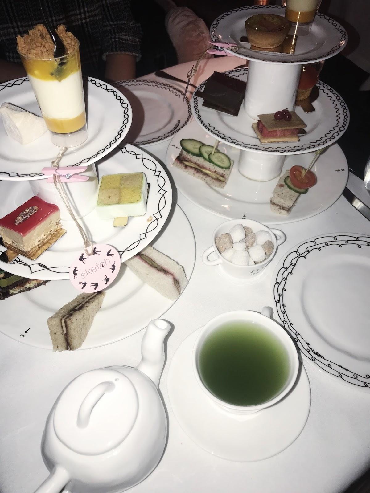 See London like a Mermaid: Breakfast + Afternoon Tea at Sketch
