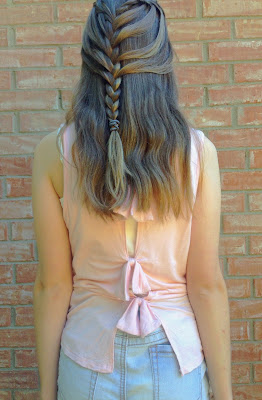 Bow Back Top, Braided Hairstyle | Live The Prep Life