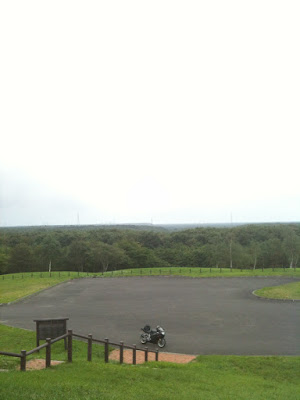 苫東柏原展望台にて。GSX-R1000・'02での北海道ツーリング