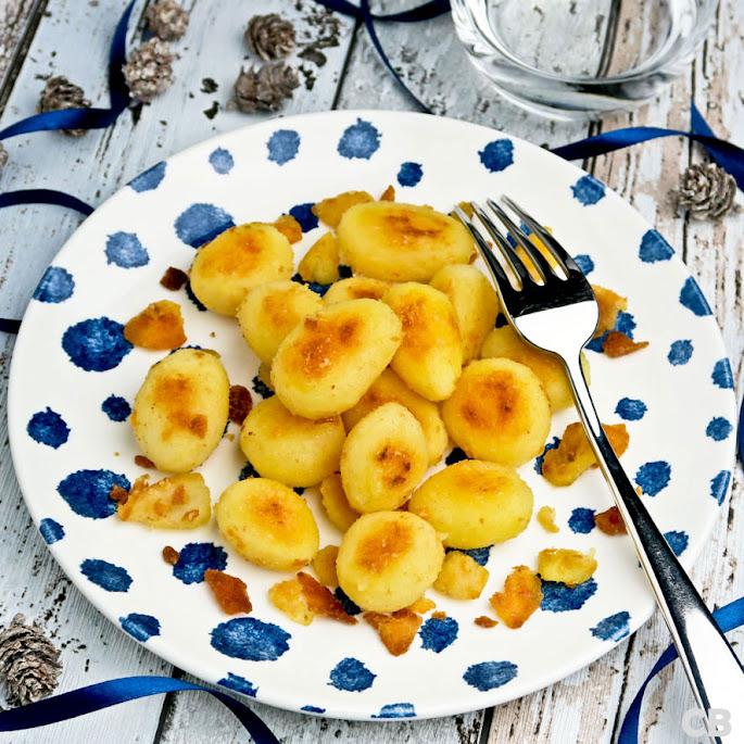 Krokante in olijfolie gebakken krieltjes