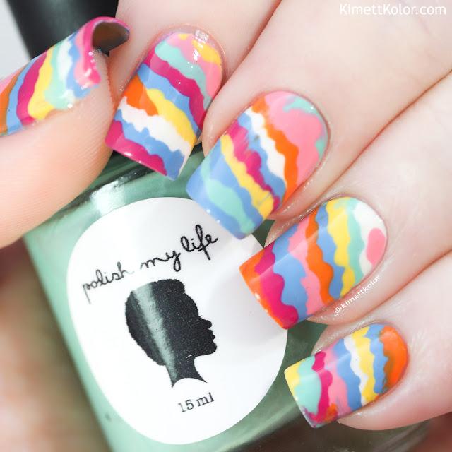 KimettKolor Summer Dribble Nail Art