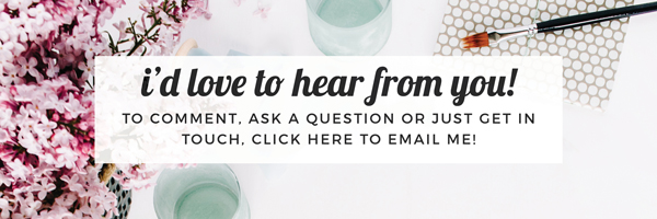 I'd love to hear from you! To comment, ask a question or just get in touch, click here to email me! Eliza Ellis