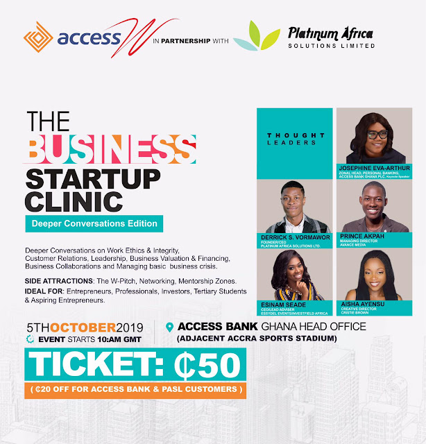 THE YCEO: Josephine Eva-Arthur, Prince Akpah, Derrick Vormawor to speak at 8th Business Start Up Clinic
