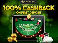 Rich Casino 100% High Roller Cash Back Offer
