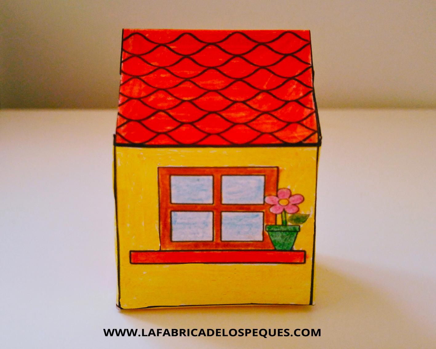 Manualidades infantiles: Casas imprimibles - La fábrica de los peques
