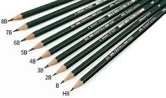 Arti dan Makna Kode H B F HB yang Tertera di Pensil