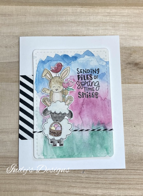 Sending Piles of Spring Time Smiles features Newton's Nook Designs; #newtonsnook, #indys_designs, #cardmaking, #eastercards