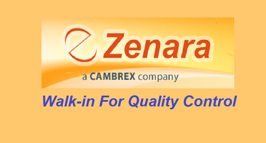 Zenara Pharma Pvt. Ltd - Walk-in For HPLC Analyst - Quality Control