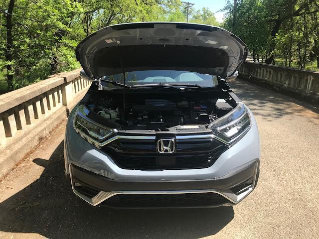 Hood up on 2020 Honda CR-V Touring