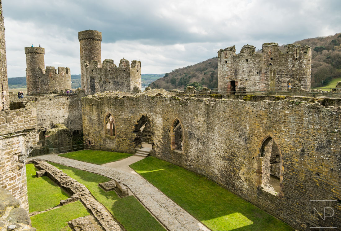 Inside view of Conwy Castle