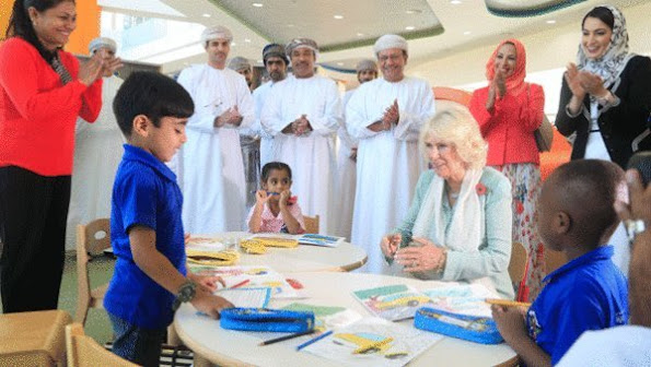 Duchess Camilla of Cornwall visited the first Children's public library of Umman and Dar Al Hannan Hostel