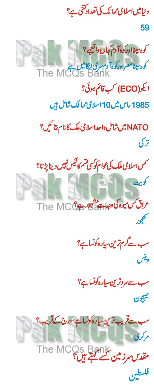 general knowledge in urdu, general knowledge images