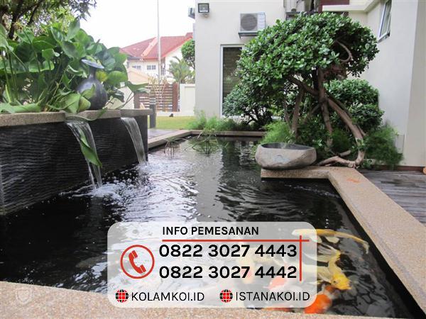 Kolam Ikan Koi Sederhana Design Minimalis di Makassar