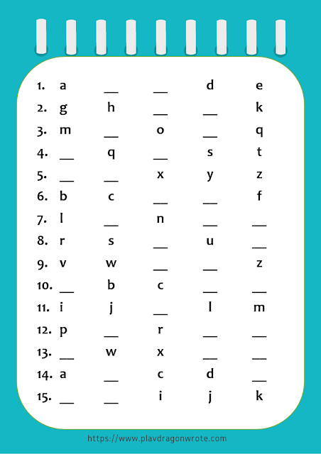 English Alphabet Small Letters Exercises Picture