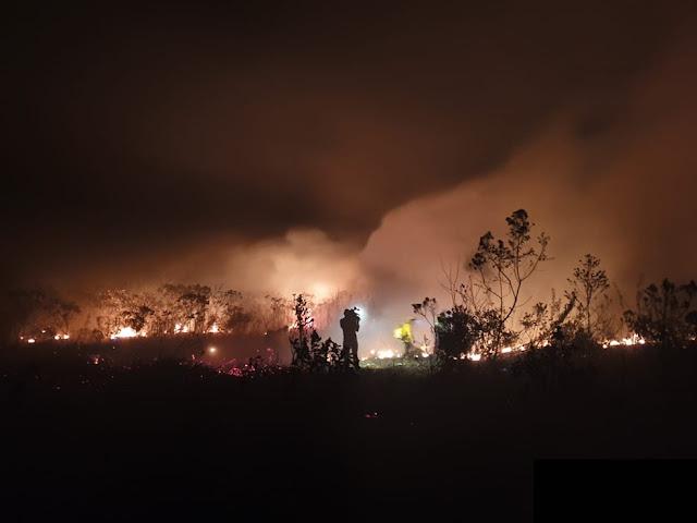 Incêndio na Chapada Diamantina (Foto: Camila Marinho/TV Bahia)