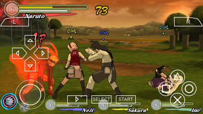 download naruto ultimate ninja impact cso ppsspp