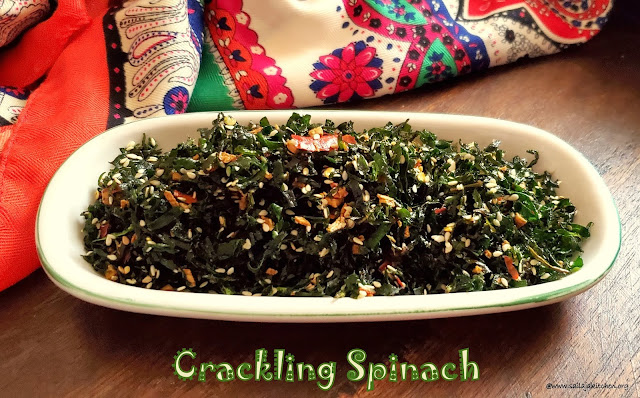 images of Crackling Spinach / How to Make Crackling Spinach - Chinese Recipes