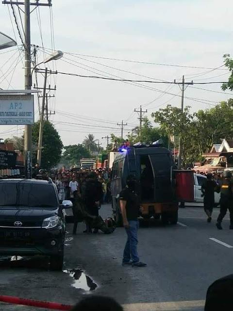 Proses penangkapan terduga teroris di Tanjungbalai-Asahan.