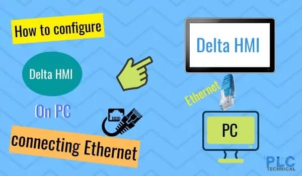 How to configure Delta HMI on PC for connecting Ethernet