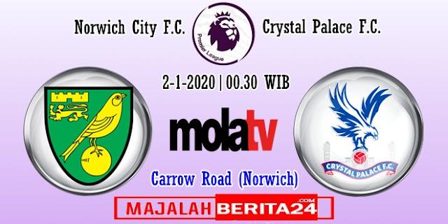 Prediksi Norwich City vs Crystal Palace — 2 Januari 2020