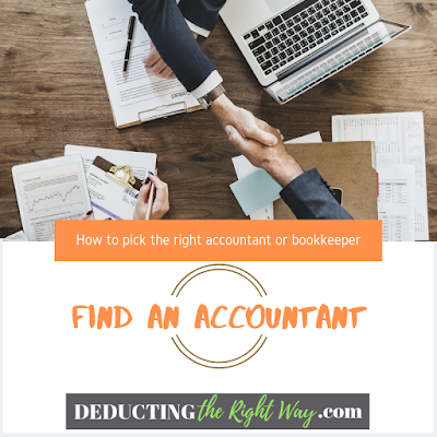 Find an accountant tips | www.deductingtherightway.com