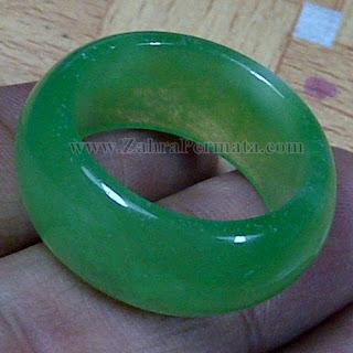 Cincin Batu Giok Jadeite Jade - ZP 1047