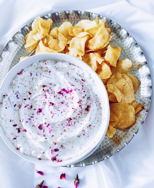 Persian Yogurt Dip with Chips