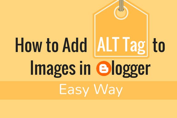 how to add alt tag in blogger