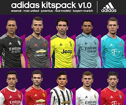 PES 2017 Adidas Kits Pack V1.0 Season 2020/2021