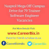 Naaptol Mega Off Campus Drive for 79 Trainee Software Engineer Vacancies