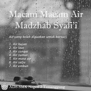Macam Macam Air - Madzhab Syafi'i