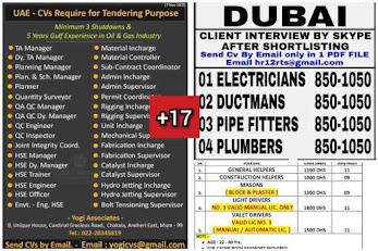 Gulf Overseas Jobs~18 November