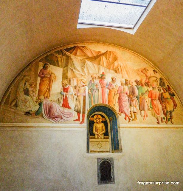"""""""A Adoração dos Magos"""", afresco de Benozzo Gozzoli, na cela do Duque Cosimo de Medici, no Mosteiro de San Marco, em Florença"""
