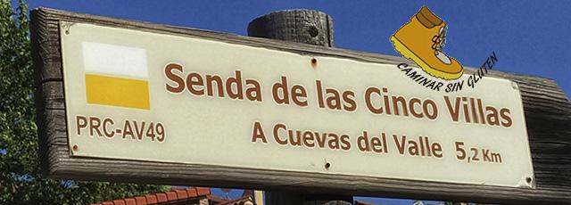 SENDA DE LAS CINCO VILLAS PRC-AV49 MOMBELTRAN-CUEVAS DEL VALLE