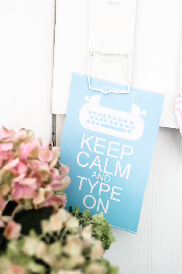 Keep calm and type on