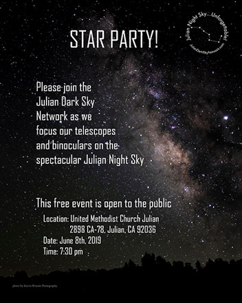 Star Party in Julian, CA (Source: Julian Dark Sky Network)