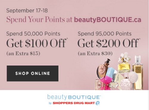 Shoppers Drug Mart Spend Your Points BeautyBoutique.ca