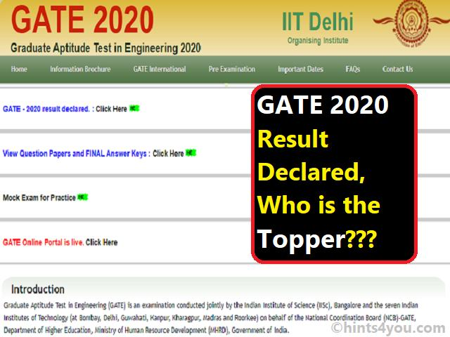The GATE 2020 examination was conducted on 1, 2, 8 and 9 February.