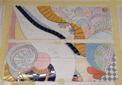 Abdeckplatte Mosaik