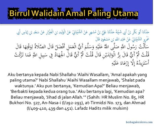 Kewajiban berbakti kepada orang tua dan Dalil Al Qur'an serta Hadist - berbagaireviews.com