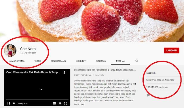 Saluran Youtube Che Nom