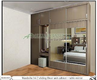 Lemari minimalis rias unit cabinet Ivi