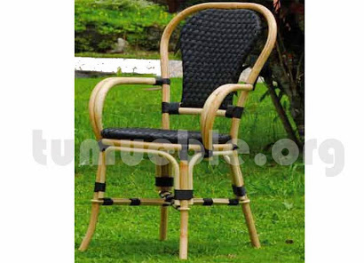 sillón para comedor hecho en caña de bambú y rattan sintético 6093