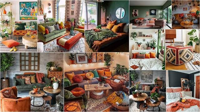 Διακοσμήσεις σε Πράσινο και Πορτοκαλί